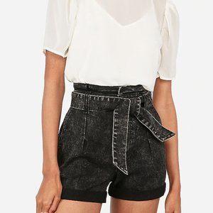 NWT Express Super High Waisted Black Jean Shorts